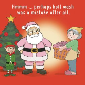 XMAS24  Boil Wash Mistake Merry Christmas Card